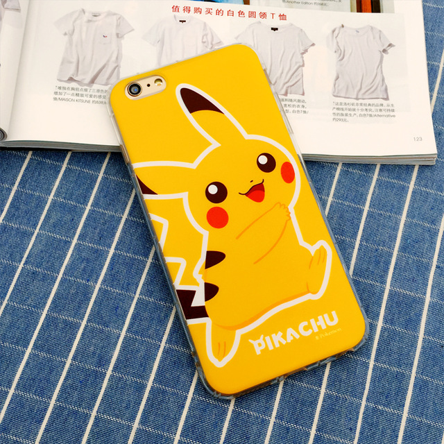 Case Silicon 3D kartun Pokemon Go